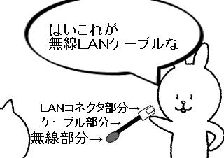 4コマ漫画「無線LANケーブルとは」の3コマ目